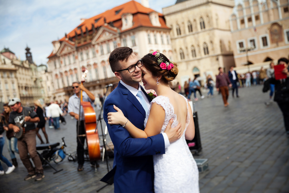 Prague, Staromestska radnice, Angelina&Vadim