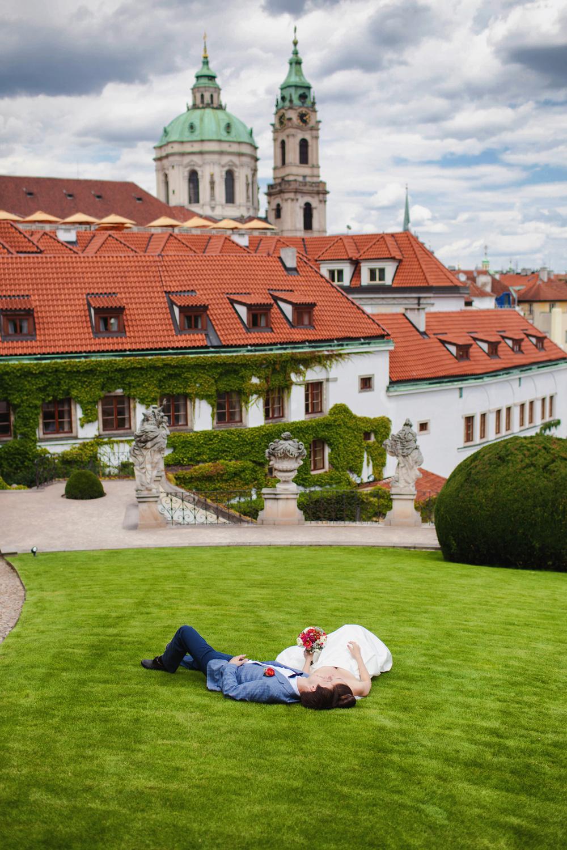 Prague, Vrtbovska zahrada, Nadezhda&Vyacheslav
