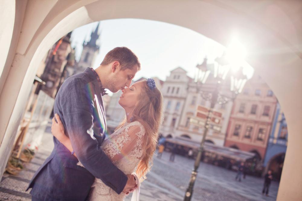 Prague, sunrise, Katya&Dima
