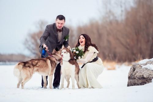 Артем и Лена. Зимняя свадьба