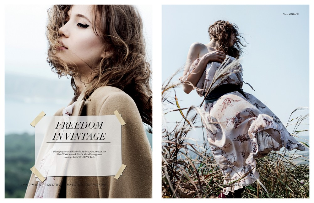 For Obscurae Magazine. Freedom in Vintage