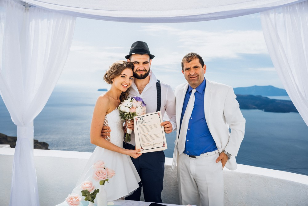 Edgar & Katush     Amazing wedding in Santorini