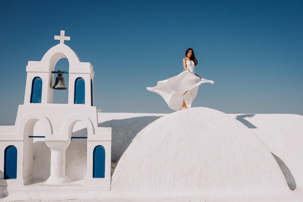 Fantastic Santorini, White & Blue Desire